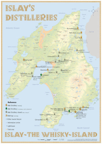 Whisky Distilleries Islay - Poster 42x60cm Standard Edition