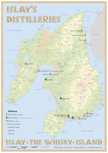 Whisky Distilleries Islay - Tasting Map
