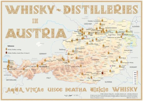 Whisky Distilleries Austria - Poster 60x42cm Standard Edition