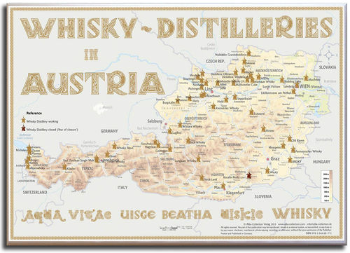 Whisky Distilleries Austria - Canvas 70x50cm
