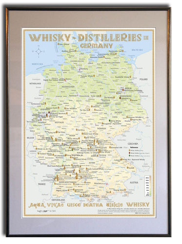 Whisky Distilleries Germany - Frame 50x70cm
