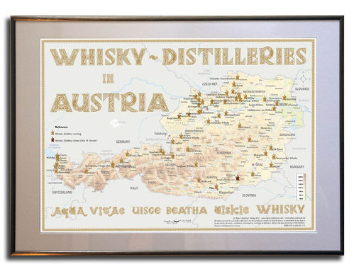 Whisky Distilleries Austria - Frame 70x50cm