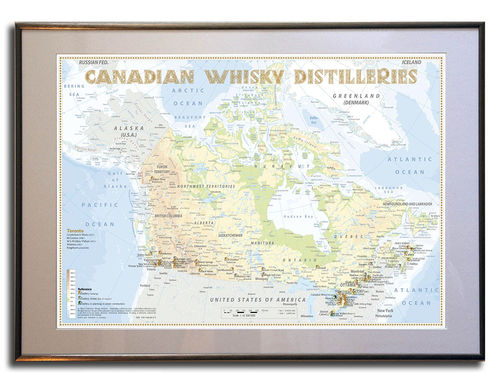 Whisky Distilleries Canada - Rahmen 70x50cm
