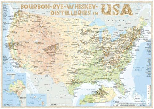 Whiskey Distilleries USA - Poster 60x42cm Standard Edition