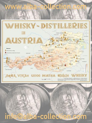 Whisky Distilleries Austria - RollUP 200x150cm