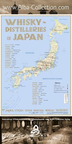Whisky Distilleries Japan - RollUP 200x100cm