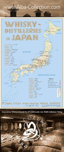 Whisky Distilleries Japan - RollUP 200x85cm
