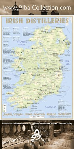 Whiskey Distilleries Ireland - RollUP 200x100cm