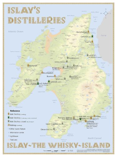 Whisky Distilleries Islay - RollUP 200x150cm