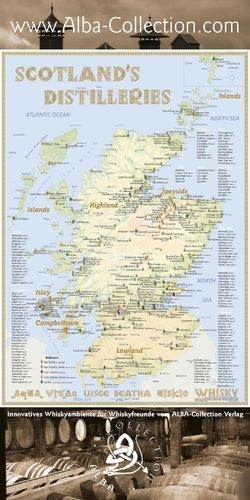 Whisky Distilleries Scotland - RollUP 200x100cm