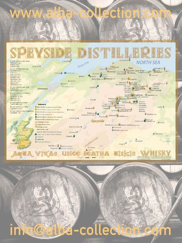 Whisky Distilleries Speyside - RollUP 200x150cm