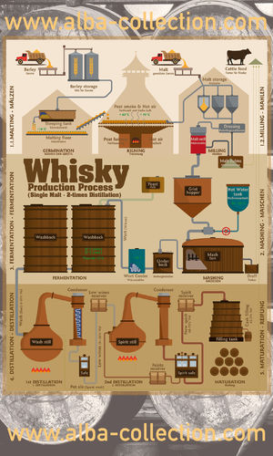 Whisky Production Process - RollUP 200x120cm