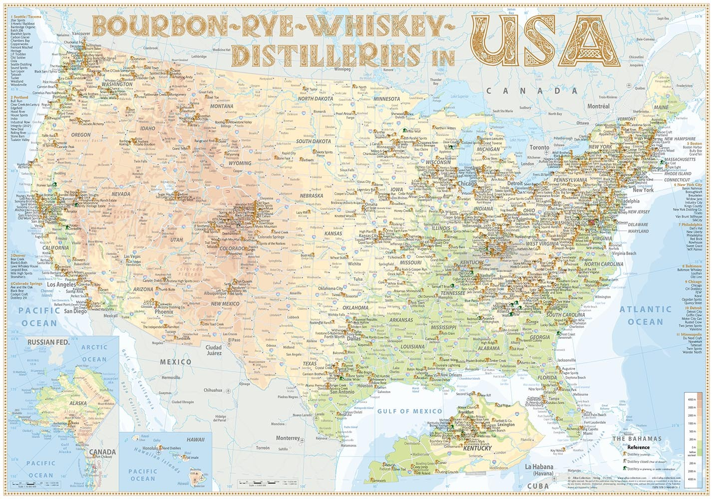 Whisky Distilleries USA