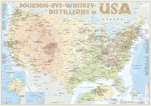 Whiskey Distilleries USA - Poster 100x70cm Standard Edition