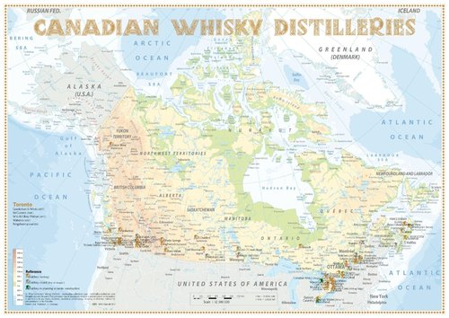 Whisky Distilleries Canada - Poster 60x42cm Standard Edition