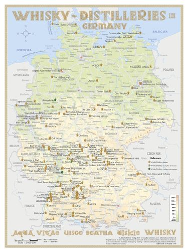 Whisky Distilleries Germany - RollUP 200x150cm