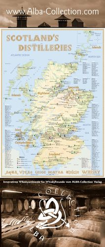 Whisky Distilleries Scotland - Rollup 200x85cm