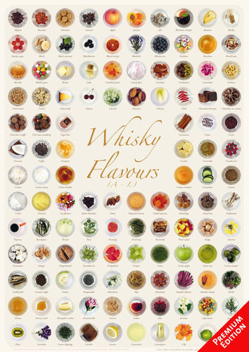 Whisky Flavours Collection - Poster 42x60cm Premium Edition