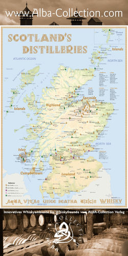Whisky Distilleries Scotland (active) - Rollup 200x100cm
