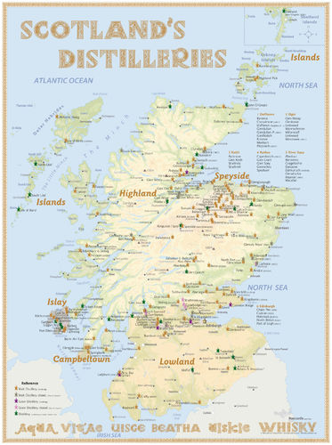 Whisky Distilleries Scotland (active) - Rollup 200x150cm