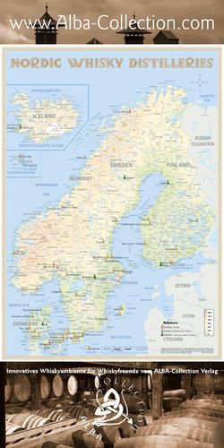 Whisky Distilleries Nordic - RollUP 200x100cm