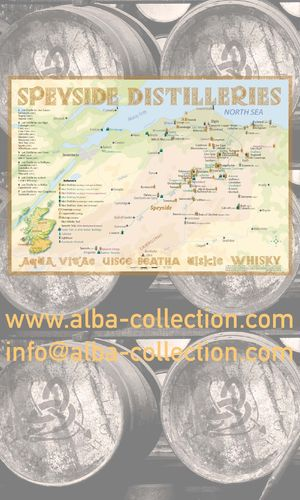Whisky Distilleries Speyside - RollUP 200x120cm